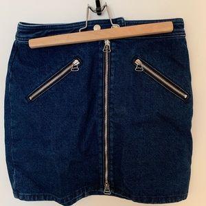Rag & Bone NEW Zip Up Denim Mini Skirt